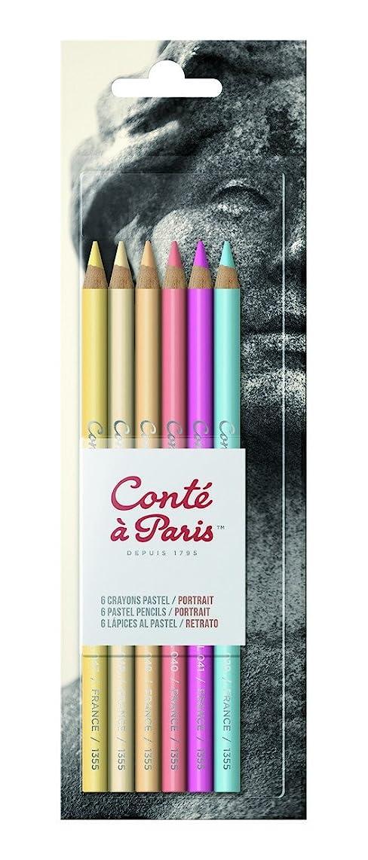 Conté à Paris Pastel Pencils with 6 Count Portrait Colors