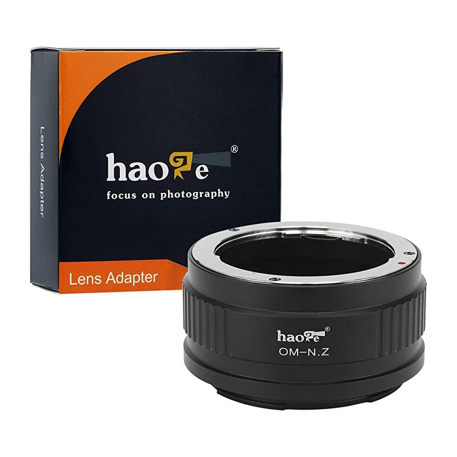 Haoge Manual Lens Mount Adapter for Olympus OM Lens to Nikon Z Mount Camera Such as Z6 Z7