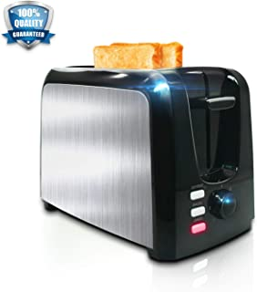 Toaster 2 Slice ¦ Toasters Toast Perfectly¦Stainless Steel 2 Slice Toaster With Bagel Defrost Cancel Function¦ Cool Touch Black Compact Bread Toasters 2 Slice Best Rated Prime Top With Two Extra Wide Slots, 7 Shade Setting, Removable Crumb Tray
