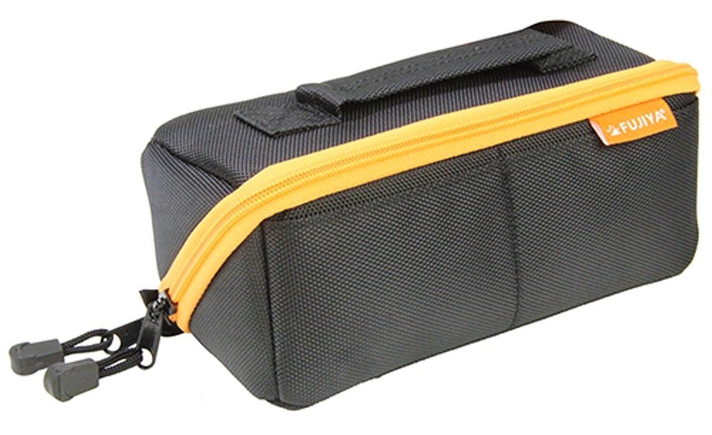 リーガン鹿小麦粉フジ矢 ヒッポケース(布製工具ケース) Sサイズ 黒オレンジ FTC2-SBK