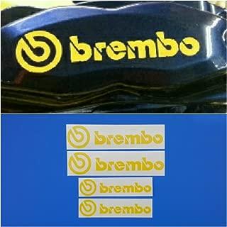 R&G Brembo 6 Piston & 4 piston High Temp Brake Caliper Decal Sticker Set of 4 (Yellow)