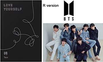 BTS Love Yourself Tear (R Version) 3rd Album Bangtan Boys CD+Poster+Photobook+Minibook+Photocard+Standing Photo+Gift (Extra 6 Photocards and 1 Double-Sided Photocard Set)