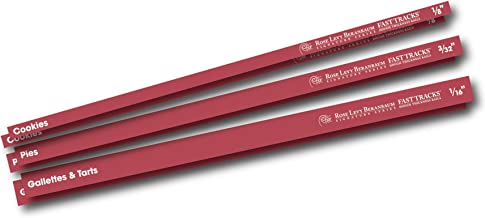 Rose Levy Beranbaum Signature Series Rose's Fast Tracks Dough Thickness Rails, Red
