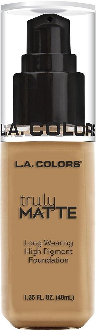 伴う鉛筆化学薬品L.A. COLORS Truly Matte Foundation - Warm Honey (並行輸入品)
