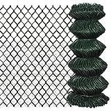 Tidyard Malla de Alambre Valla de Jardín,Decoración Protección para Hogar y Propiedad,PVC Verde 0,8x25M