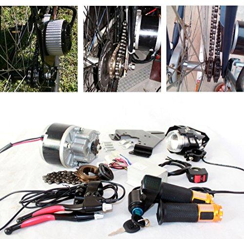 Spazzola per bicicletta elettrica,250W pedale dell'acceleratore elettrico con interruttore a chiave e tensione della batteria, facile kit per fai da te