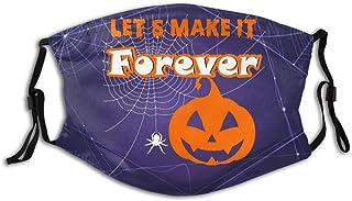 Promini Halloween pumpa Let Us Forever personlig munärm återanvändbar munskydd