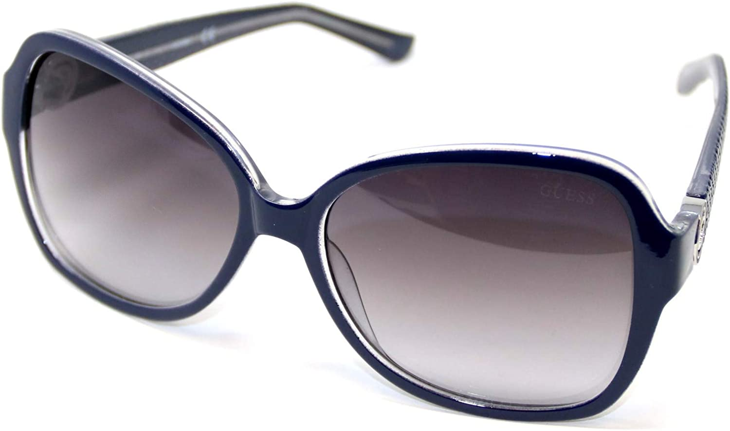 Guess GF027590B58 Women's Square Sunglasses Navy bluee with Grey Lens