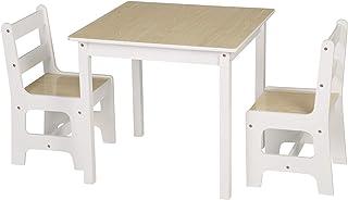 comprar comparacion WOLTU 3 uds. Grupo de Asientos para Niños Mesa y 2 Sillas en Edad Preescolar Muebles para Niños SG005