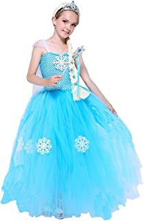 Halloween Princess Costume for Girls Birthday Party Fairy Ice Tutu Dress