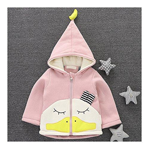 Infant baby jongens meisjes unisex kleding babykleding kleding kleding cartoon coat verdikkend warm pak jas banaan eend roze 90cm multicolor