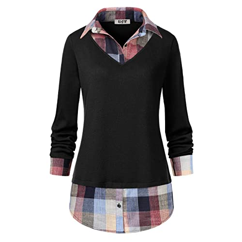 6aa1c2bfba9c5 Plaid Top: Amazon.com