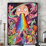 Fenghong Pop-Art, Rick und Morty psychedelischen Silk
