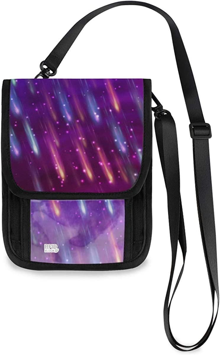 RFID Blocking El Paso Mall Travel Selling and selling Neck Wallet Fireworks Colorful - Passport H