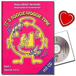 It\'s Boogie Woogie Time - École de piano pour boogie avec CD - Boogies originales fascinantes avec instructions et improvisations du début à la perfection - avec pince à partitions en forme de cœur