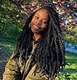 ZRQ Butterfly Locs 20 Inch Distressed Faux Locs Pre-looped Synthetic Crochet Braids Extended Soft Locs For Black Women Extensions (6 Pack 1B#)
