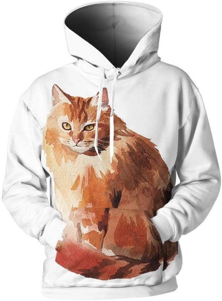 LUO Hoodies pour femmes hommes Hoodies Imprimer peinture Sweatshirts Cool Sweatshirts Plus La Taille 3D Pull Outwear,M * L