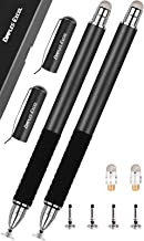 Dimples Excel 2 in 1 Precision Stylus with Fine Point Tip Disc and Hybrid Fiber Tip - 4 Replacement Discs and 2 Micro-knit Hybrid Fiber Tips, 2 Pack