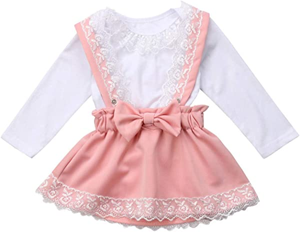 Ivyi Baby Girl Lace Bow Princess Party Outfit Set Baby O K 190326 Pink 18M United Ates