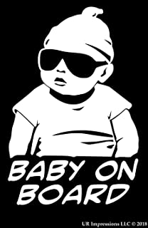 Baby Safety Sign for Your Car Vehicle Truck Vinyl Sticker Decal 5 x 5 Funny Graphic Car Window Laptop Self Adhesive for Smart Parents Delzam Baby ON Board Pack of 2 Exterior Stickers