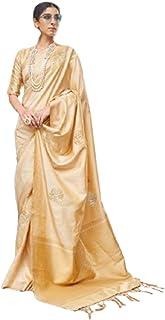 بلوزة حريمي هندي ناعمة من حرير بناراسي ناعم من تصميم تقليدي ذهبي 5760