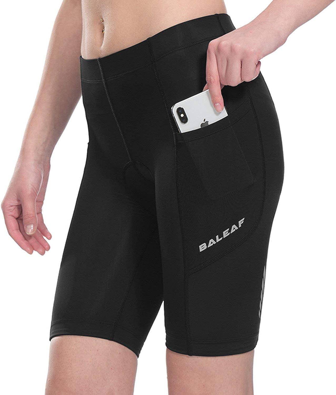 Baleaf Women's Cycling Padded Shorts Black