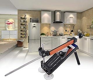 Afilador de Cuchillos Profesional, afilador de Cuchillos de Cocina para Cuchillos y Cuchillos dentados, Herramientas de Cocina seguras con 4 Piedras