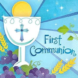 "Amscan First Communion Beverage Napkins 5"" x 5"" 709576"