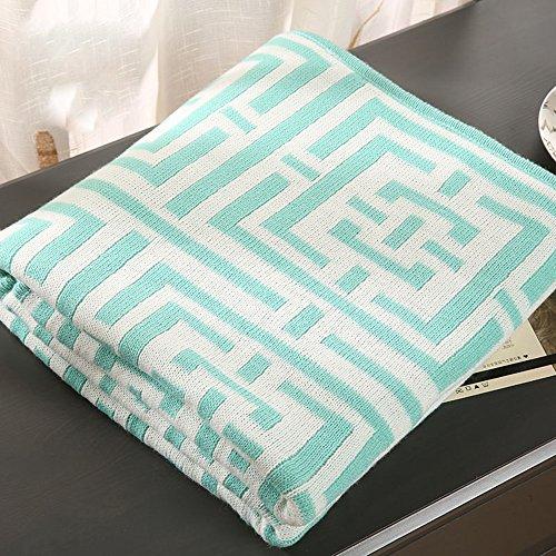 Global- 127 * 153cm Knit feuilles couverture Climatisation couverture siesta couverture bureau loisirs couverture fibre acrylique couverture de lit ( couleur : #3 )