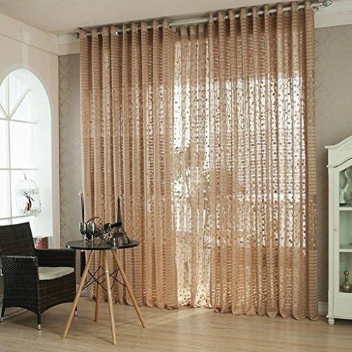 Met Love Fenêtres Tissus de dépistage de haute qualité Écrans jacquard translucides Écrans de salon minimalistes modernes 2 panneaux (Couleur : A, taille : L:1.5*H:2.7m)