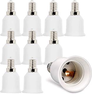 kwmobile 10x adaptateur de douille - 10x convertisseur de douilles E14 vers E27 - Adaptateur de support de lampe culot E27...