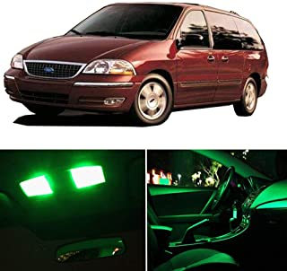 SCITOO LED Interior Lights 9pcs Green Package Kit Accessories Replacement Fits for 2001 2002 2003 Ford Windstar