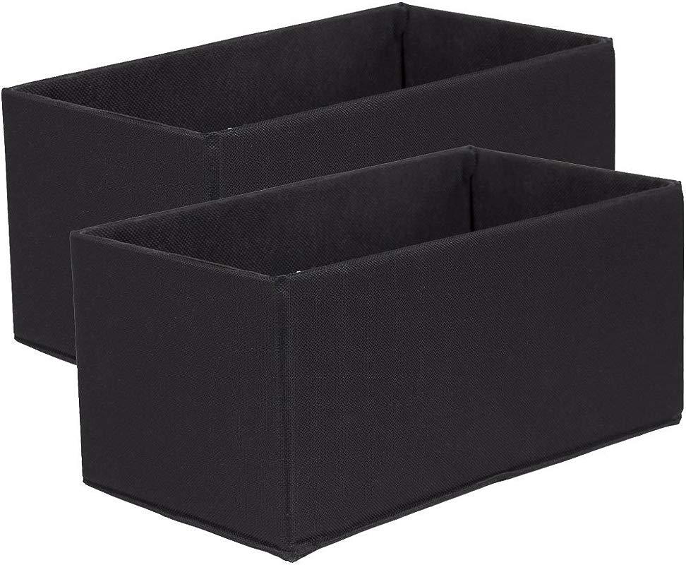 SKB Family Fabric Storage Boxes Mini Set Of 2 11 X 5 X 6 X 3 Lbs Black