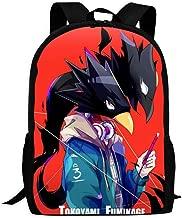 Glowddm Unisex My He-ro ACA-de-mia Black Raven Shadow 3D Backpack Daypacks School Bag Shoulder Bag Bookbag for Women Men Kids