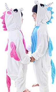 HalloweenCostumeParty Blue Unicorn Onsie Costume for Toddler Kids (M(8)