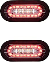 Qty. 2, Buyers Products 5626432-x2, Combination 6 INCH LED Stop/Turn/Tail, Backup, and Strobe Light for Tow Truck, Wrecker, Emergency Vehicle, Safety, Warning, Construction Truck