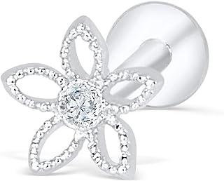 a5b5bf6f4 ONDAISY Cz Simulated Diamond Gold Plated 316 Surgical Stainless Steel Cute  16g Flower Star Ear Bar