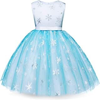 Elsa Anna Dress Costumes Halloween Snow Princess Birthday Party Cosplay Accessories 2-10 Years