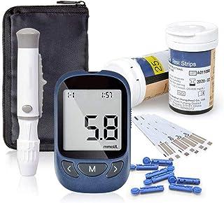 Prueba Inteligente De Diabetes, Monitor De Glucosa En Sangre con Tiras Reactivas En Botella Y Lancetas Medidor De Glucosa Médico para Una Prueba Exacta De Azúcar En Sangre para Diabetes