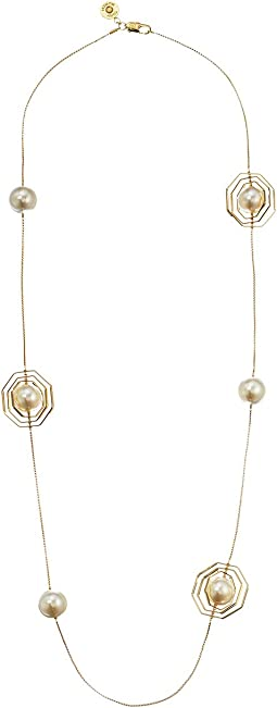 Geo Pearl Rosary Necklace