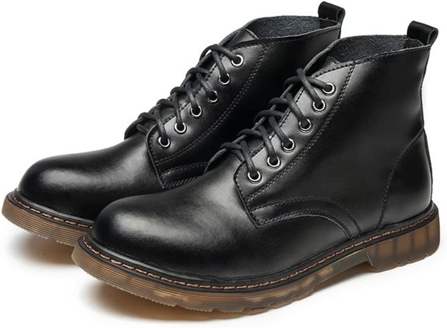 Oxford Shoes Fashion Shoes,Casual Shoes Mens Oxford Boots Classic Leather Lace Up Shoes Fashion Casual Popular High Top Ankle Boots for Gentlemen Oxfords Personality Shoes