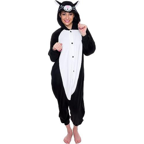 Silver Lilly Unisex Adult Pajamas - Plush One Piece Cosplay Cat Animal  Costume 1c1c031f54957