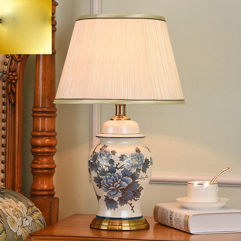 MARCU Home Europa-Stil Lampe Schlafzimmer Nachttisch Creative Creative Creative AmericSimple Modern Warm Einstellbare Keramik Licht Warm, B, Fernbedienung (Farbe   C Paragraph, Größe   Remote Control) B07NRNYXF1 | Ausgezeichnete Qualität  1a7d6f