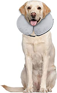 E-KOMG Blow Up Dog Collar Dog Cone Protective Inflatable Collar After Surgery Pet Recovery Collar for Dogs and Cats