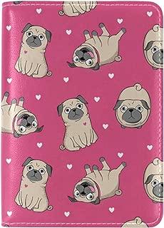 GraciasU Hello Puppy Pug Leather Passport Holder for Man Women Kids