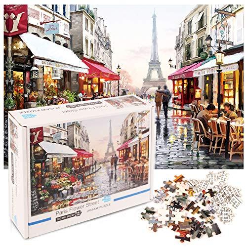 Jigsaw Puzzle 1000 Piezas, Juegos de Rompecabezas Puzzles Adolescentes Puzzle Rompecabezas, Juguete Educativo Intelectual de descompresión Divertido Juego Familiar, Regalos para Amigos
