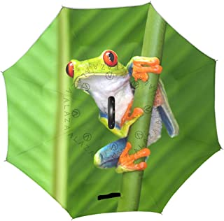 TropicalLife Double Layer Inverted Umbrella Red Eyed Tree Frog Reverse Umbrella