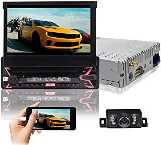 $175 » Single Din Car Stereo Single Din Touchscreen Car Stereo Car Radio with Bluetooth GPS Nav Android 10 4-core 7Inch Automatic...