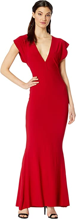V-Neck Rectangle Gown