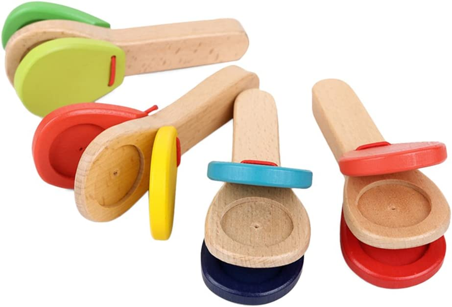 ROSENICE Wooden Castanet Clapper Surprise price Musical Percussion Oakland Mall Educational